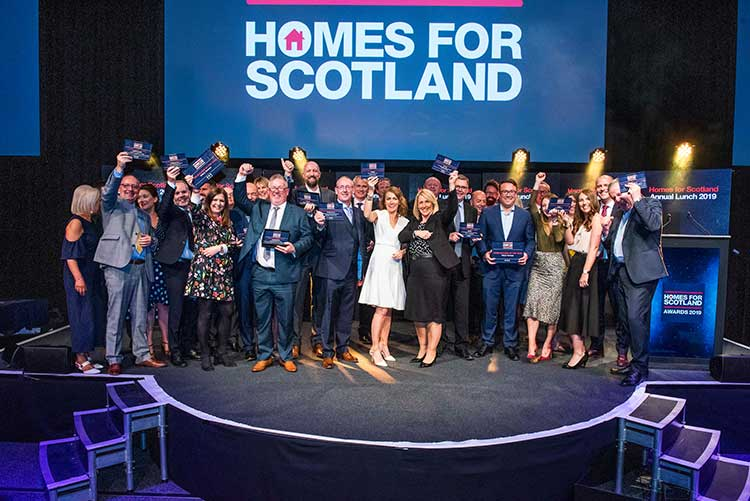 The winners of the 2019 Homes for Scotland Annual Awards