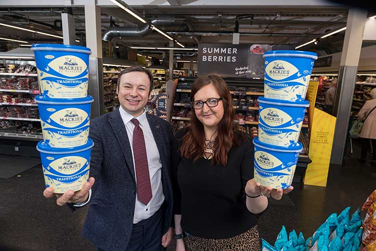 From left - Bill Thain (Mackie's National Account Manager) and Leigh Brogan (M&S Inverurie Store Manager)