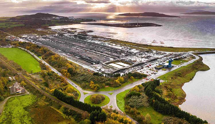 Aerial view of Hunterston