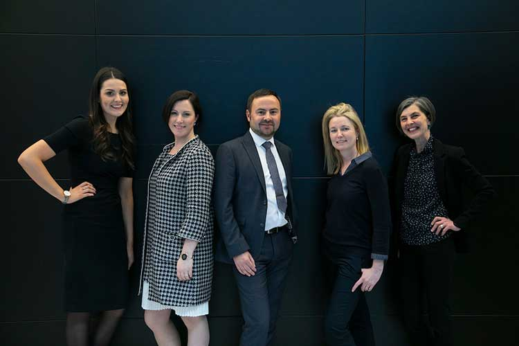 The Converge team, led by Claudia Cavalluzzo (2nd left)