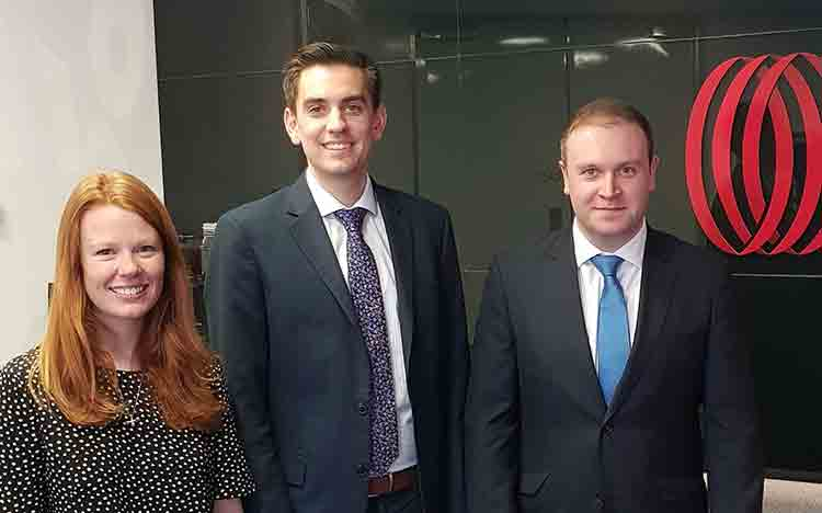 From left - Freya Pottinger, Conor Doherty, Geoff Ferguson
