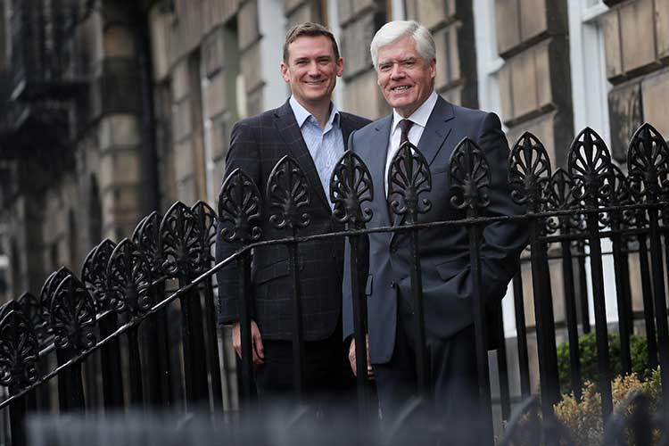 From left - LendingCrowd CEO Stuart Lunn and Chairman Sir Sandy Crombie