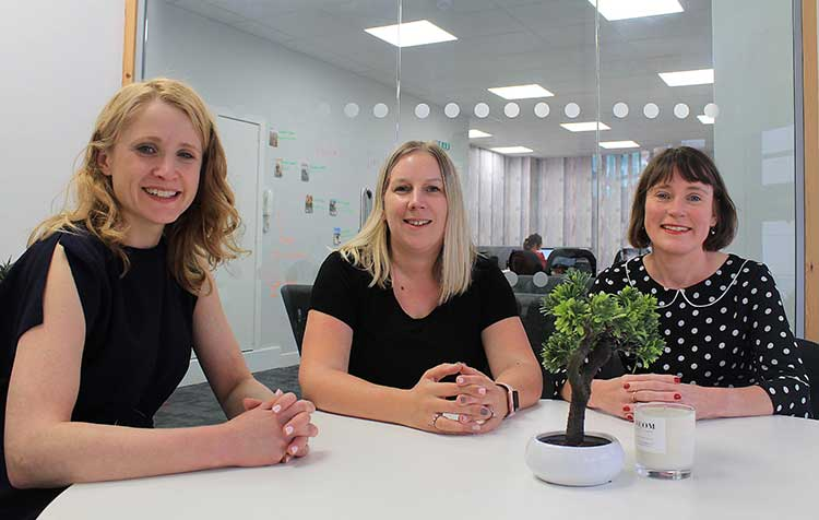Left to right: Annie Diamond (director), Nathalie Agnew (managing director), Rosemary Gallagher (director) at Relative PR