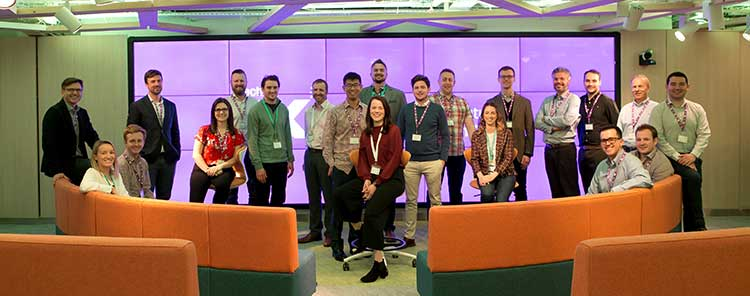 Cohort 2 from the Oil & Gas Technology Centre's accelerator programme, TechX