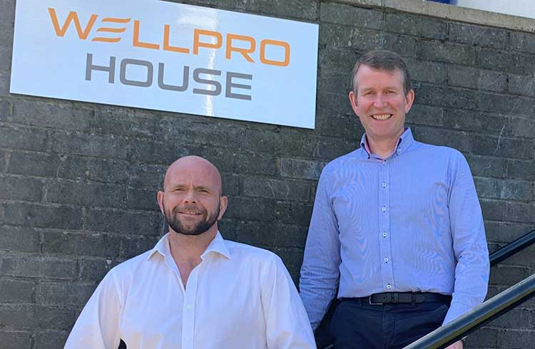 Wellpro Group operations director Grant Forsyth (left) and CEO Jim Thomson