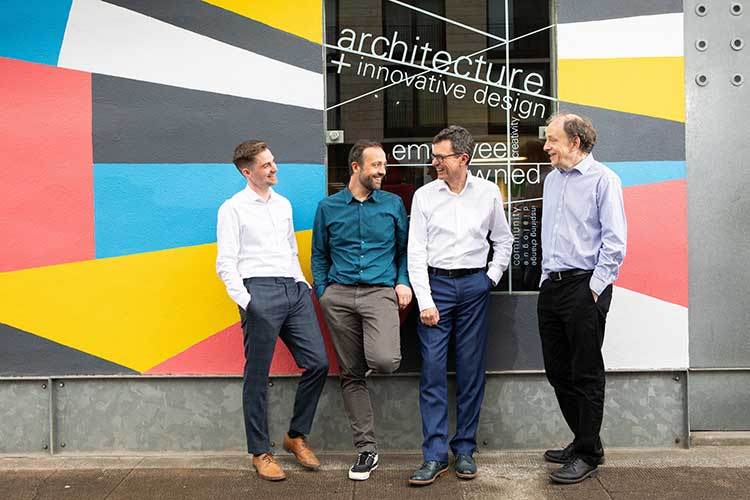 Anderson Bell + Christie directors (from left to right) Jonathan McQuillan, Stuart Russell, Adam Bell and Stephen Lamb