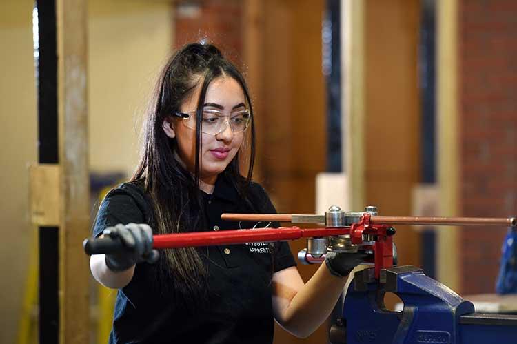 City Building plumbing apprentice Phoebe Ali