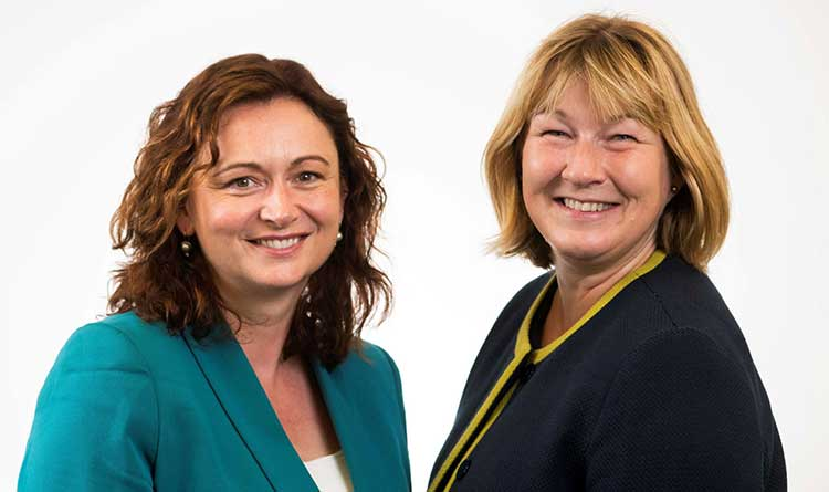 From left - Elaine Morton and Helen Webster