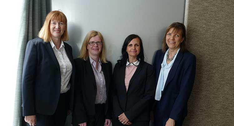 From left: Linda Grant, Business Development Director: Angela Paterson, Associate Director; Jill Glen, Associate Director; Christine Convy, Founder.
