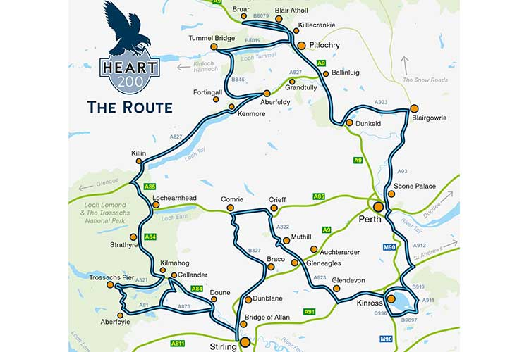 Map of the Heart 200 route