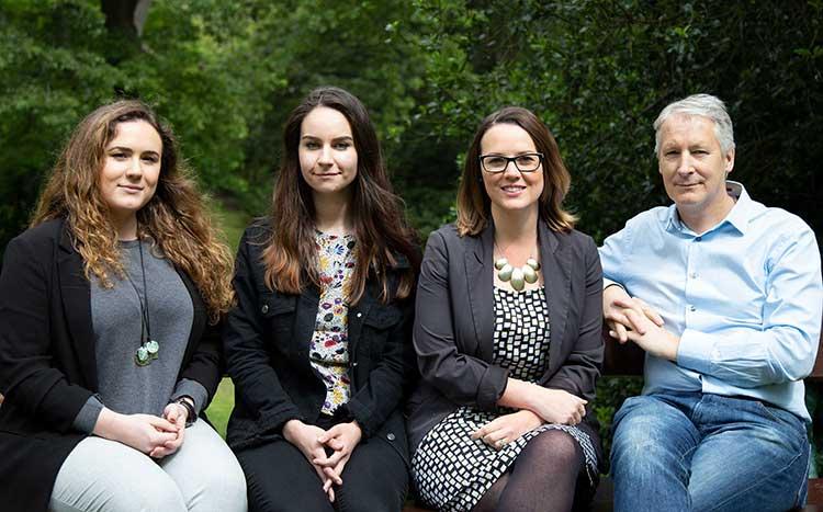 From left - Ariadna Roca Beroy, Laura Burton, Anwen Dobson and Andrew White