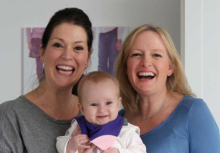 Left to right are Amy Livingstone and Julie Wilson of Cheeky Chompers