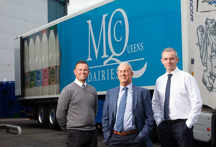 Ruairidh McQueen (sales director), Mick McQueen (chairman) and Calum McQueen (commercial director)