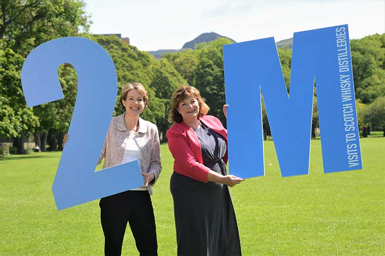 From left - SWA Chief Executive and Cabinet Secretary Fiona Hyslop MSP