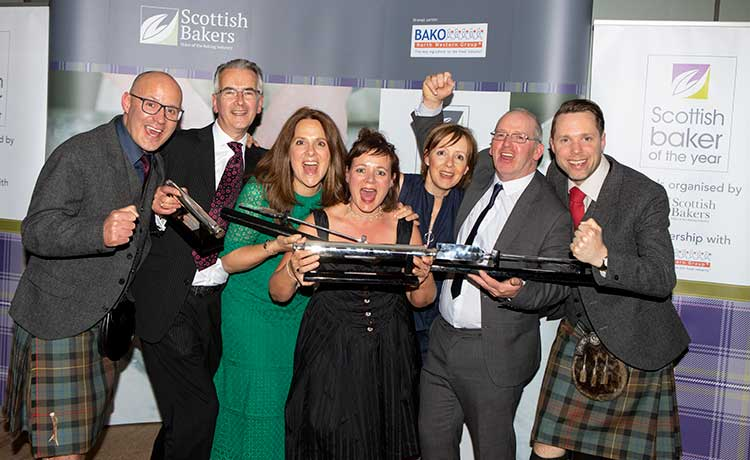 Winners at Scottish Baker of the Year awards