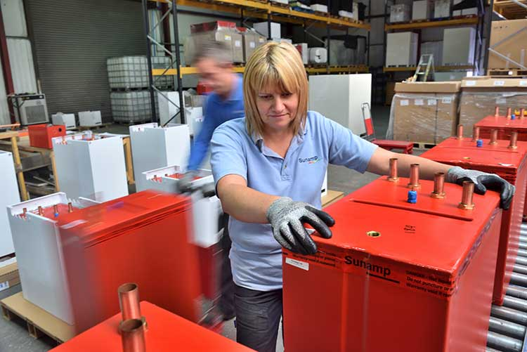 Sunamp manufacturing plant in East Lothian