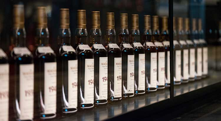 The Macallan Fine & Rare collection. Photo credit Mark Power, Magnum Photos
