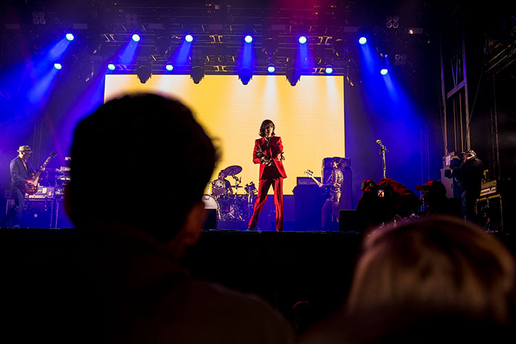 Primal Scream perform at the V&A Launch 3D Festival