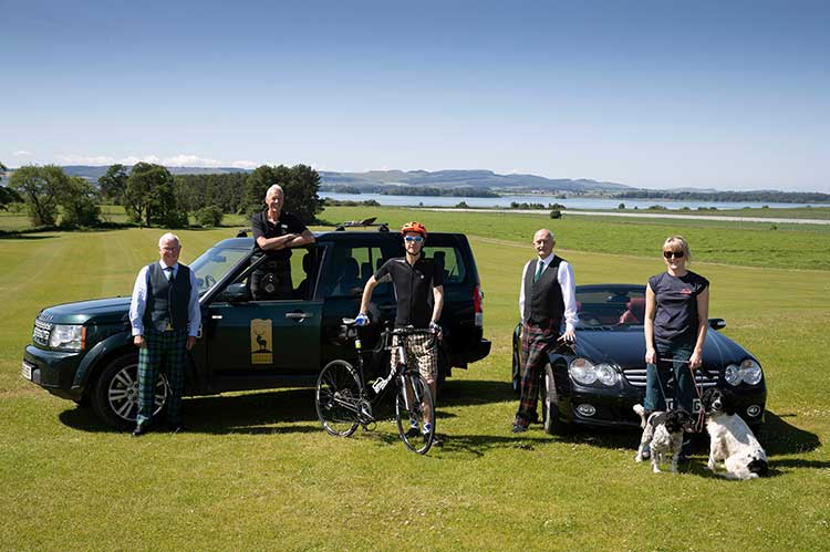 L-R: Gordon Riddler, Corporate Advisor to Heart 200; Donald Riddell, Director of Highland Safaris; Mike Dales, Communications Director at Heart 200; Robbie Cairns, Managing Director of Heart 200 and Sue Emery, Business Development Executive at Heart 200