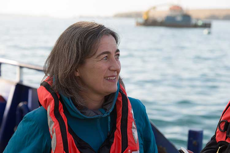 Julie Hesketh-Laird, chief executive of the Scottish Salmon Producers Organisation
