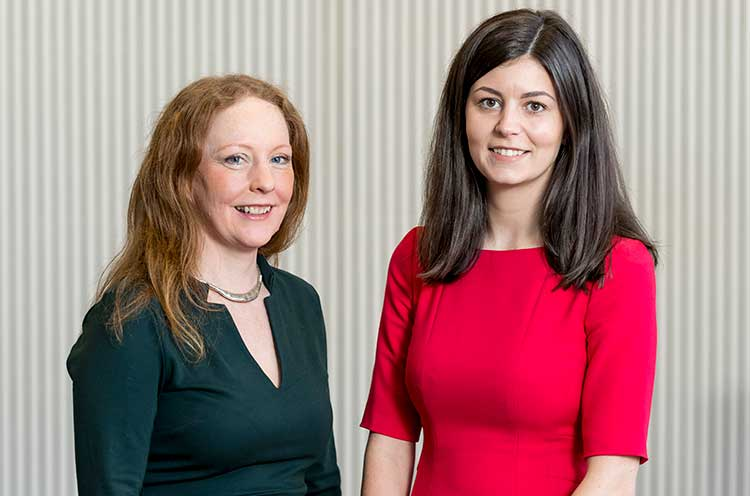 From left - Elaine McIlroy and Erin McLafferty