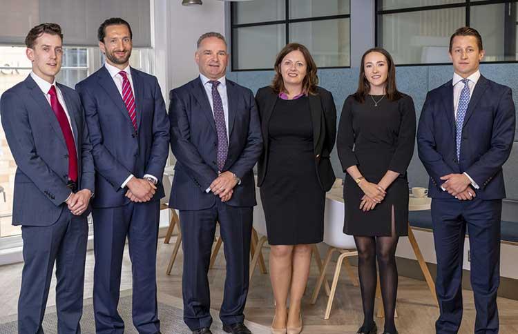 L-R Peter Harding, Douglas Wood, Stuart Agnew, Alison Taylor, Alice Elder and Ben Farrell