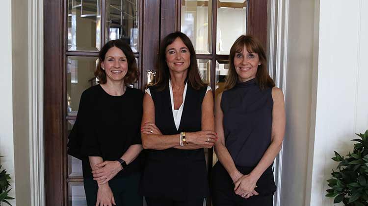 Left to right are Karen McNab, Nicki Denholm and Marisa Carroll of Denholm