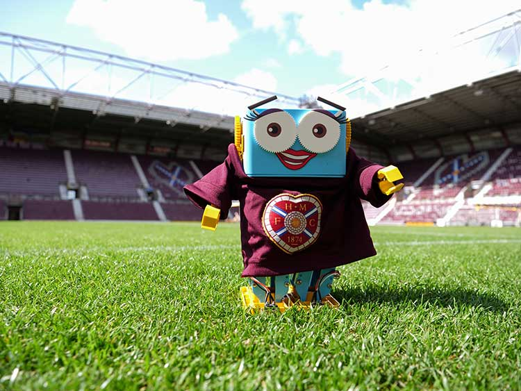 Marty the Robot at Tynecastle