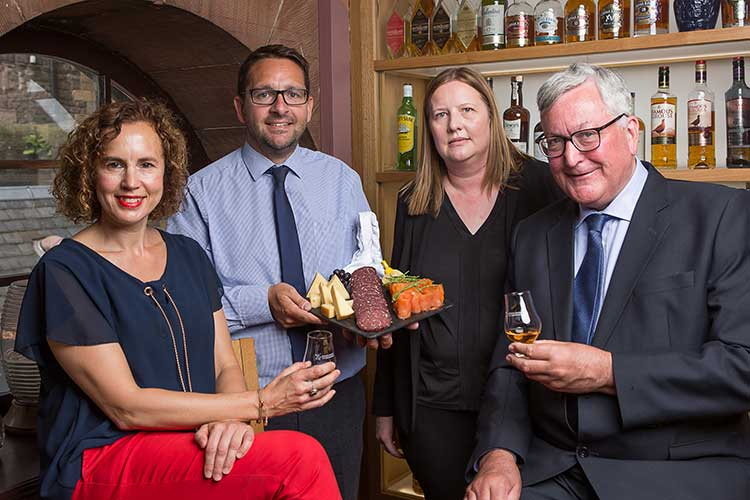 (L-R): Fiona Richmond (Scotland Food & Drink), James Withers (Chief Executive at Scotland Food & Drink), Wendy Neave (Head of Events at Scotch Whisky Experience), and Fergus Ewing MSP.