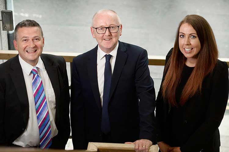 From left - Roger Mackenzie, Tom Quail and Emma Letham