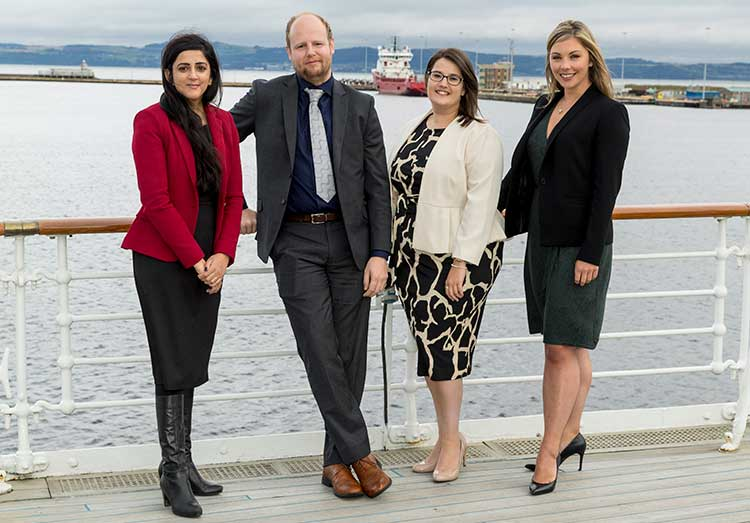 Left to right - Fehmida Hanif, Thomas Mulhall, Maggie Nicoll, Victoria Anderson