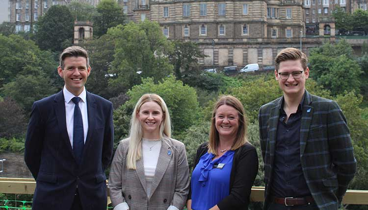 From Left to Right Alasdair Swan (BoS), Kendra Byers (SBN), Kirsty Livingston (IoD), Scott Dalgleish (SBN)