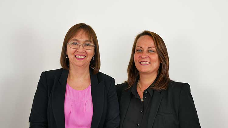 From left - Margaret Richmond and Lynne Macdonald