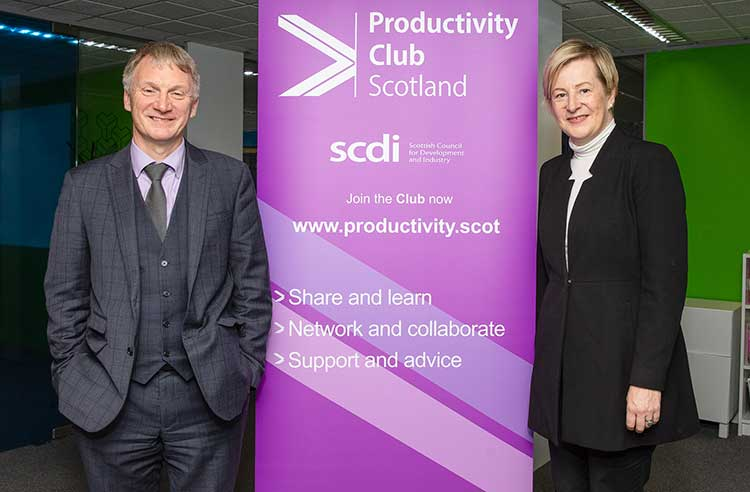 Ivan McKee MSP, Scottish Minister for Trade, Investment & Innovation and Sara Thiam, Chief Executive of SCDI