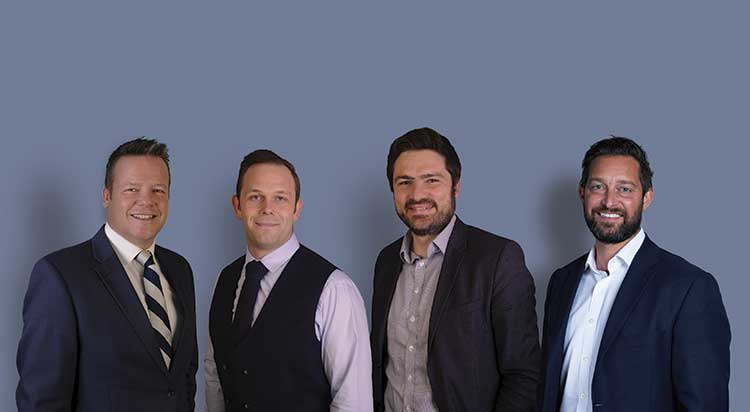 From left - Matt Gray, Sam Paulo, Marcus DiRollo, Glen Gilson