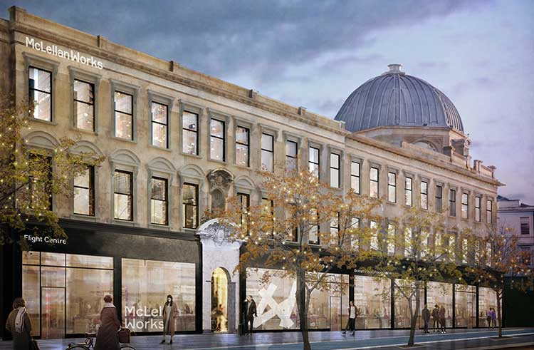 CGI of McLellan Works exterior