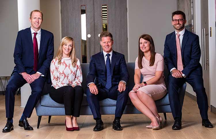 Left to right - Adam Broatch, Nicola Pidgeon, Alan Maudsley, Ashleigh Mackay, and Richard Rainey
