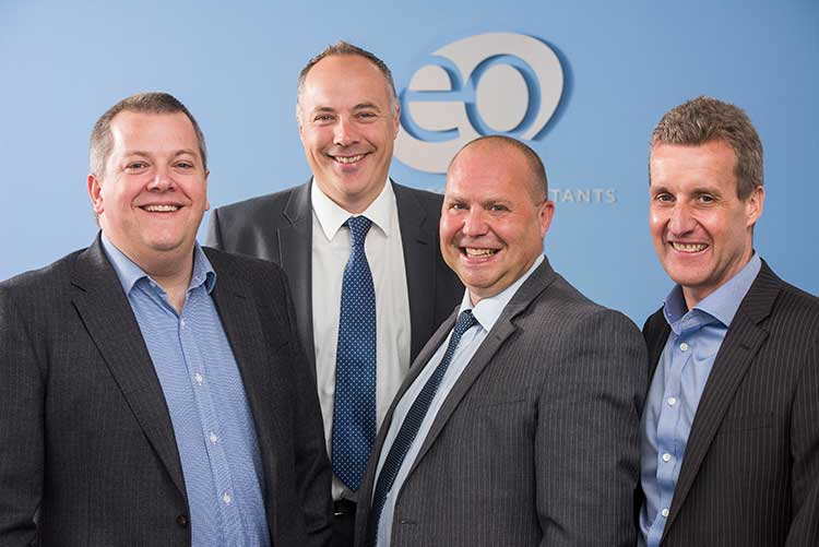 L-R – Ross Oliphant, Steven Todd, Bryan Johnston & Mark Gibson