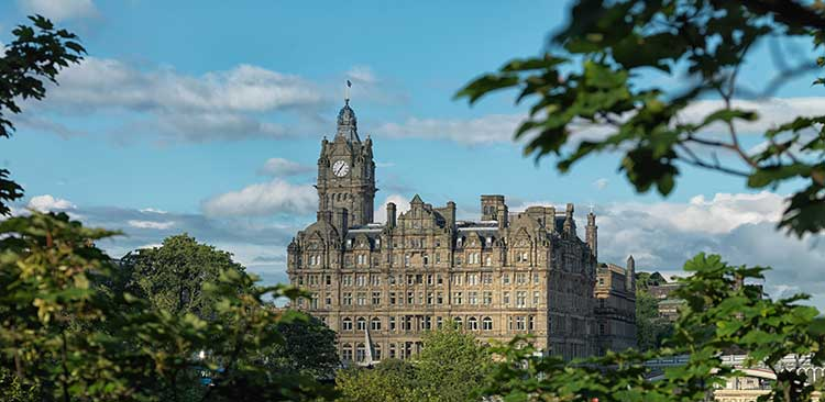 The Balmoral - Exterior from Princes St Gardens