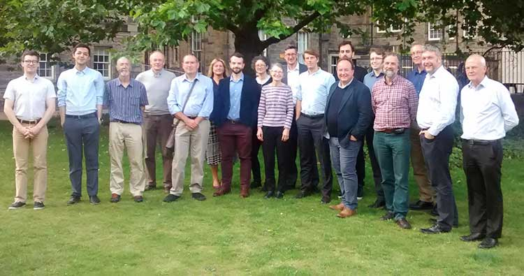 The project team at the kick-off meeting at the University of Edinburgh (Credit HyStorPor)