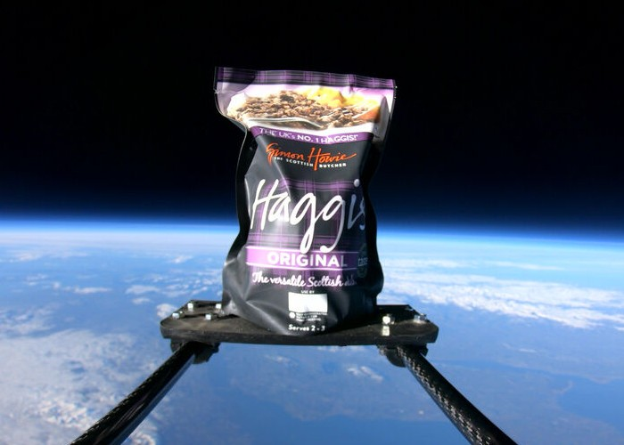 Haggis launched to the edge of space in celebration of Burns Night